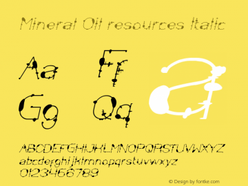 Mineral Oil resources