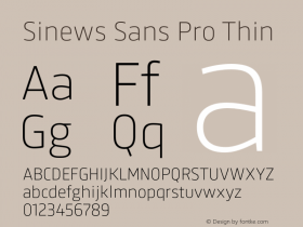 Sinews Sans Pro