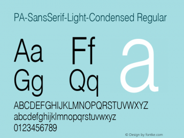 PA-SansSerif-Light-Condensed