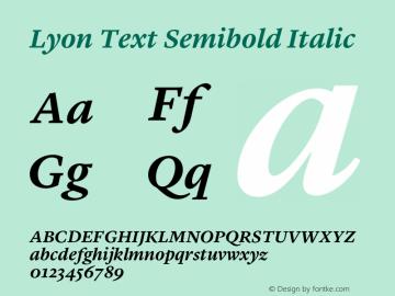 Lyon Text Semibold