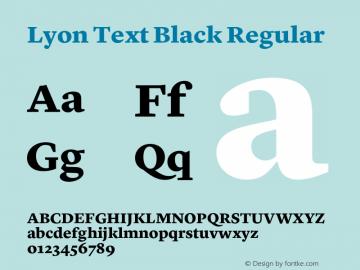 Lyon Text Black
