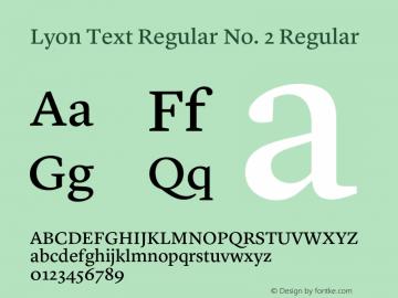 Lyon Text Regular No. 2