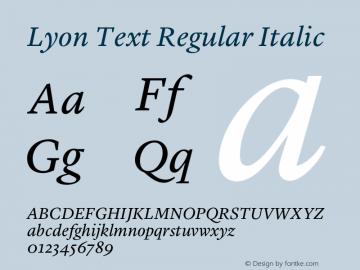 Lyon Text Regular