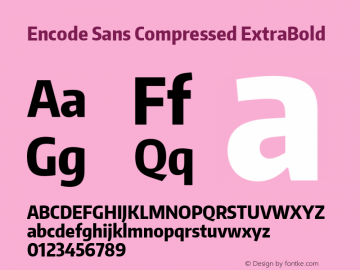 Encode Sans Compressed