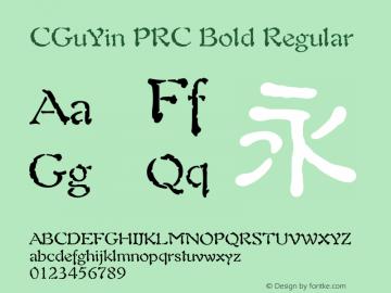 CGuYin PRC Bold