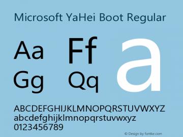 Microsoft YaHei Boot