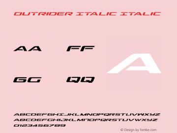 Outrider Italic