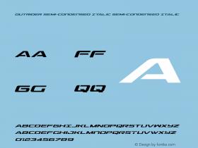 Outrider Semi-Condensed Italic