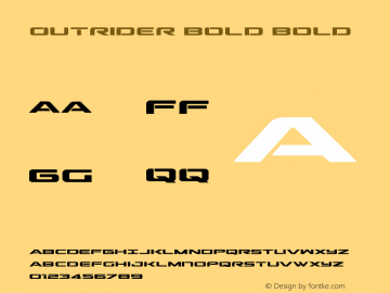 Outrider Bold