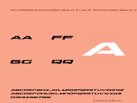 Outrider Expanded Bold Italic