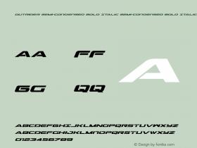 Outrider Semi-Condensed Bold Italic