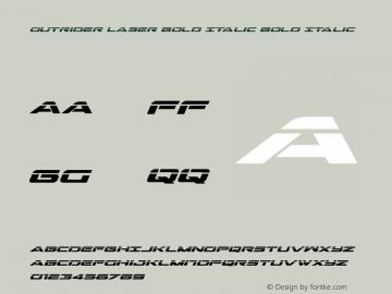 Outrider Laser Bold Italic