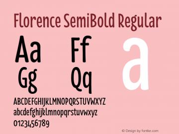 Florence SemiBold