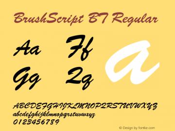 BrushScript BT