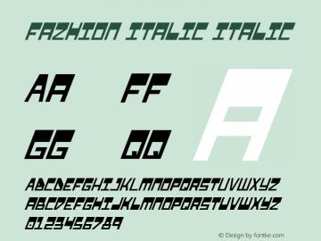 Fazhion Italic