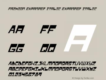 Fazhion Expanded Italic