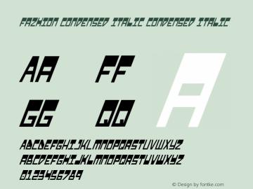 Fazhion Condensed Italic