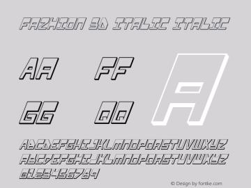 Fazhion 3D Italic