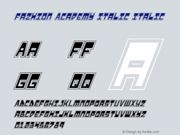 Fazhion Academy Italic