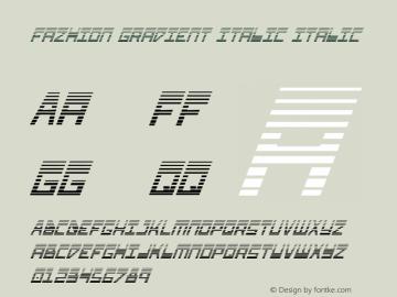 Fazhion Gradient Italic
