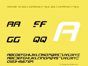 PsYonic VII Bold Expanded Italic
