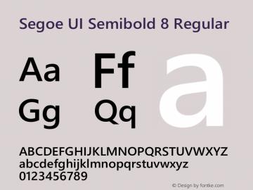 Segoe UI Semibold 8