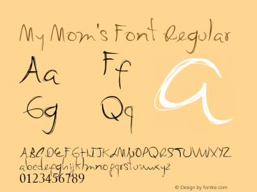 My Mom's Font