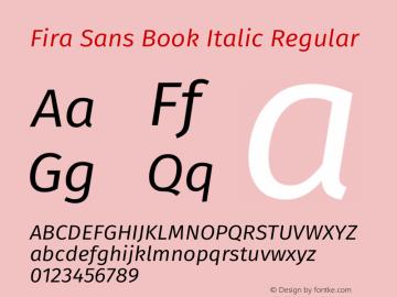 Fira Sans Book Italic