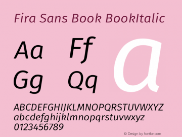 Fira Sans Book