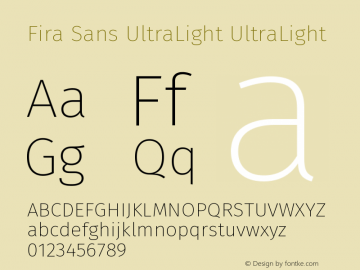 Fira Sans UltraLight