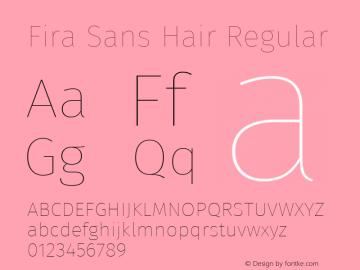 Fira Sans Hair