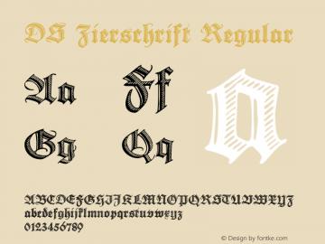 DS Zierschrift