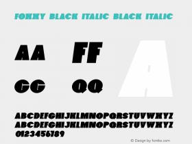 Foxxy Black Italic