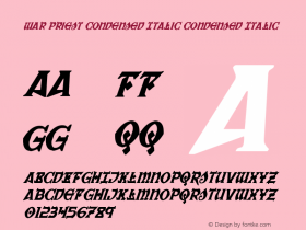 War Priest Condensed Italic