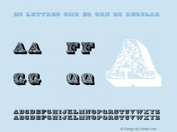 DS Lettres ombées ornées