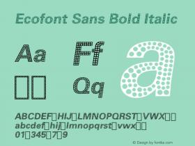 Ecofont Sans