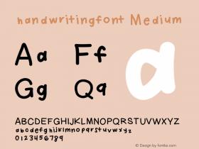 Handwritingfont