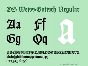 DS Weiss-Gotisch
