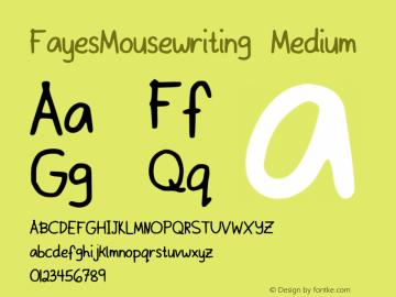 FayesMousewriting