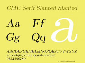 CMU Serif Slanted