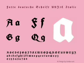 Fette deutsche Schrift UNZ1L