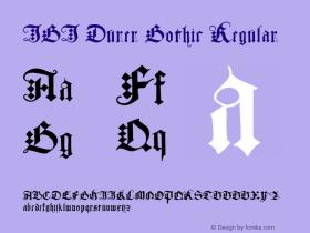 JGJ Durer Gothic