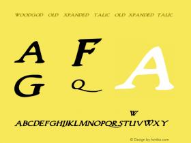 Woodgod Bold Expanded Italic