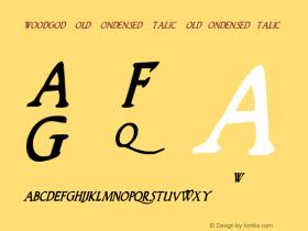 Woodgod Bold Condensed Italic