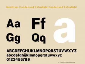 NeoGram Condensed ExtraBold