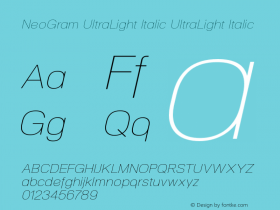 NeoGram UltraLight Italic