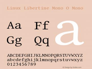 Linux Libertine Mono O