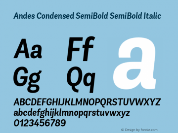 Andes Condensed SemiBold