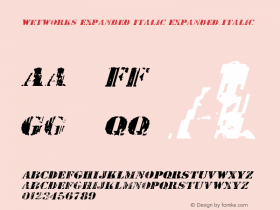 Wetworks Expanded Italic