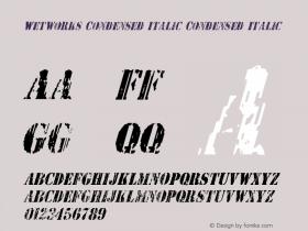 Wetworks Condensed Italic